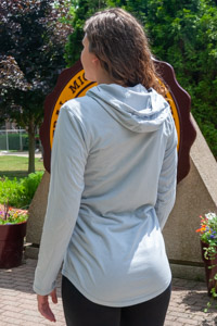 Central Michigan Gray Hooded Long Sleeve T-Shirt<br><small>NIKE</small>