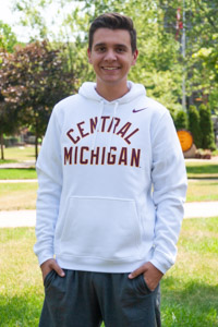 Nike White Central Michigan Hoodie