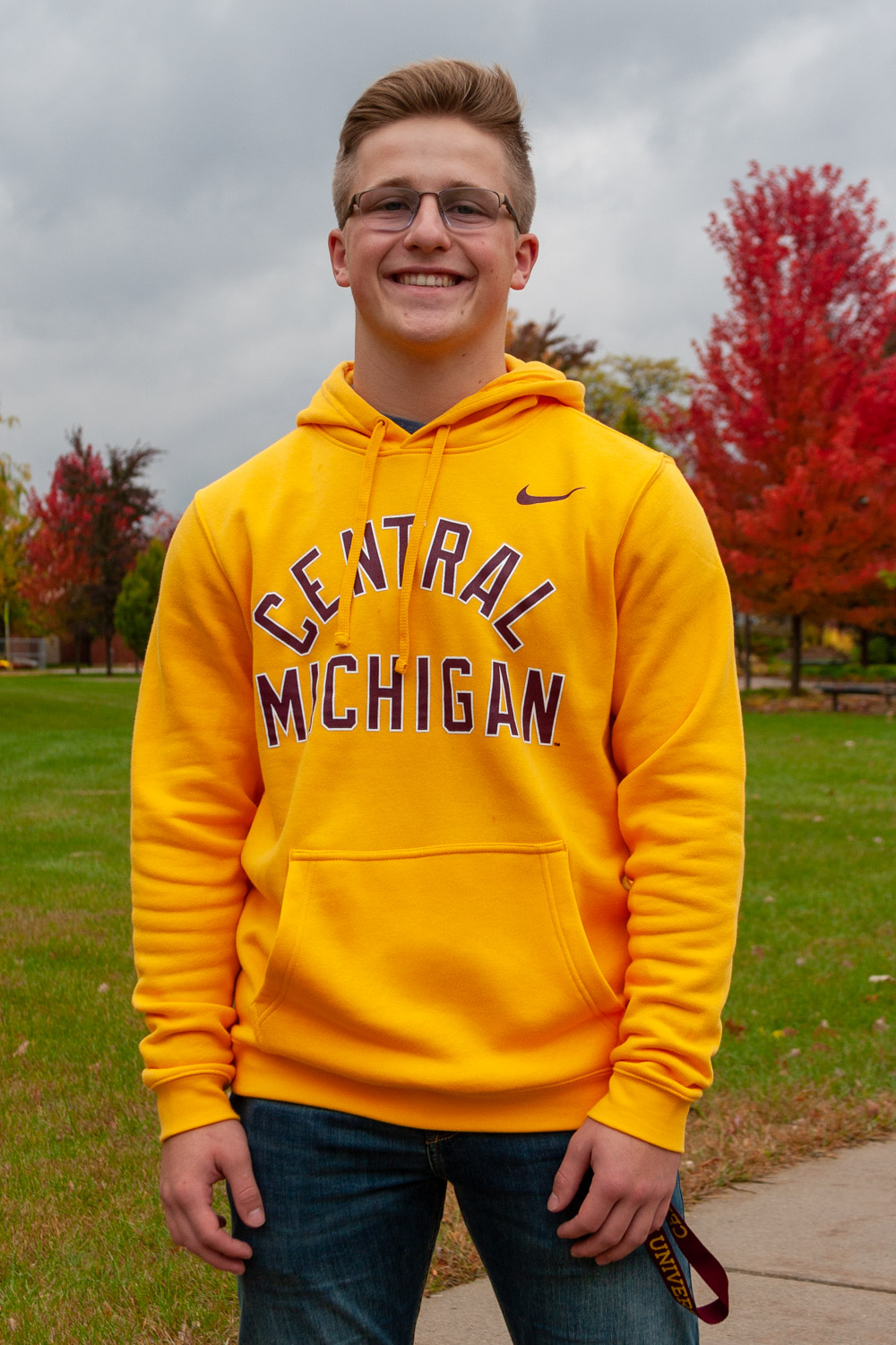 Central Michigan Gold Pullover Hoodie<br><small>NIKE</small> (SKU 5043551741)