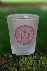 CMU Seal Frosted Shot Glass