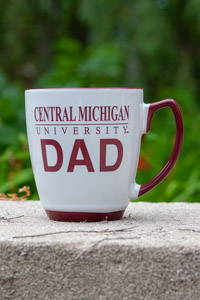 Off-White and Maroon Central Michigan Dad Mug