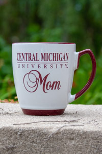 Off-White and Maroon Central Michigan Mom Mug