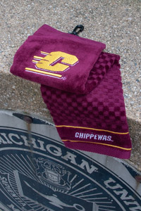 Maroon Flying C Premium Golf Towel