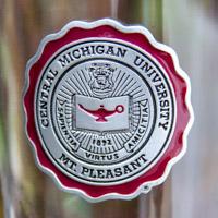 Central Michigan University Seal Pilsner Glass