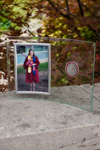 Central Michigan Seal Glass Picture Frame