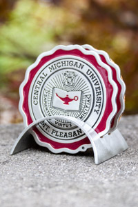 Central Michigan University Seal Coaster Set
