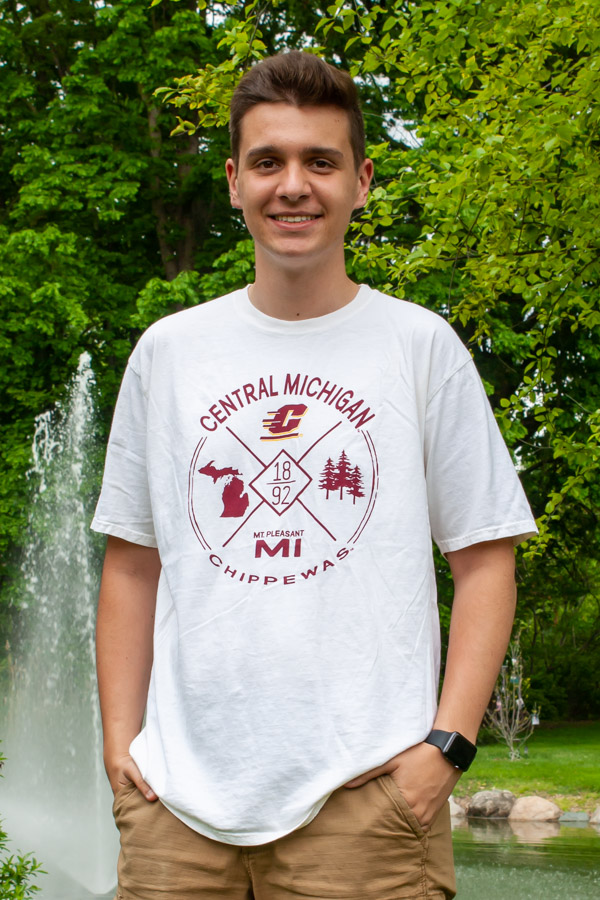 Ivory Graphic Central Michigan Chippewas T-Shirt (SKU 5044155654)