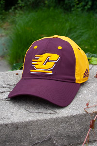 Adidas Maroon and Gold Flying C Flex Fit Hat