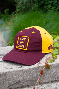 Adidas Maroon and Gold Fire Up Chips! Adjustable Hat