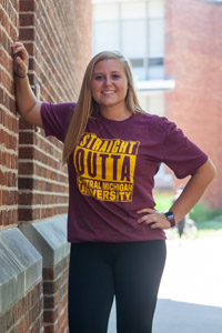 Straight Outta Central Michigan University T-Shirt