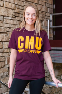 CMU Lacrosse Maroon Sports T-Shirt<br><small>ADIDAS</small>