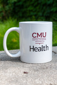 White Cmu Health Ceramic Mug