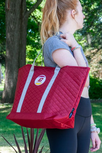 Quilted Maroon Flying C Merit Tote