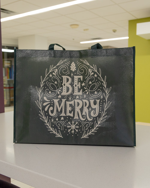 Colorful Mid-Century Christmas Premium Gift Bag (large)