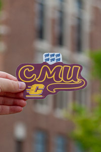 CMU Flying C Maroon & Gold Sticker<br><small>BLUE 84</small>