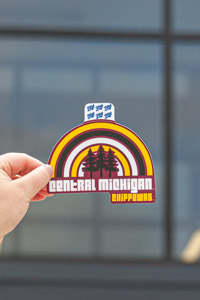 Central Michigan Chippewas Rainbow Trees Sticker<br><small>BLUE 84</small>