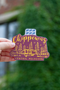 Chippewas Central Michigan Maroon Camping Sticker<br><small>BLUE 84</small>