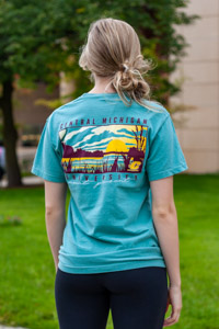 Seafoam Green Central Michigan University Graphic T-Shirt