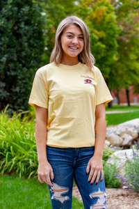 Yellow Happy Campers Central Michigan Graphic T-Shirt