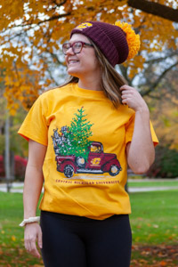 Flying C Truck With Christmas Tree T-Shirt