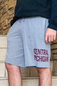Central Michigan Heather Gray Athletic Shorts<br><small>UNDER ARMOUR</small>