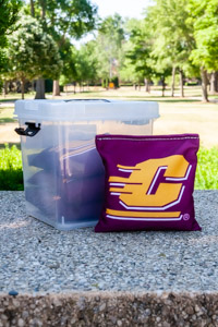 Flying C Maroon Regulation Cornhole Bags