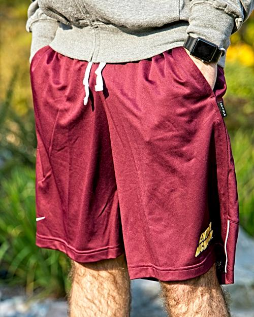 Central Michigan On Field Maroon Coach Short<br><small>NIKE</small>