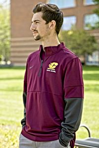 Action C Chippewas Maroon & Charcoal Therma ½ Zip<br><brand>NIKE</brand>