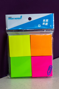 Assorted Fluorescent Mini Sticky Notes