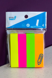 Assorted Fluorescent Sticky Tabs