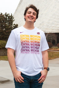 Nike White Repeating Central Michigan T-Shirt