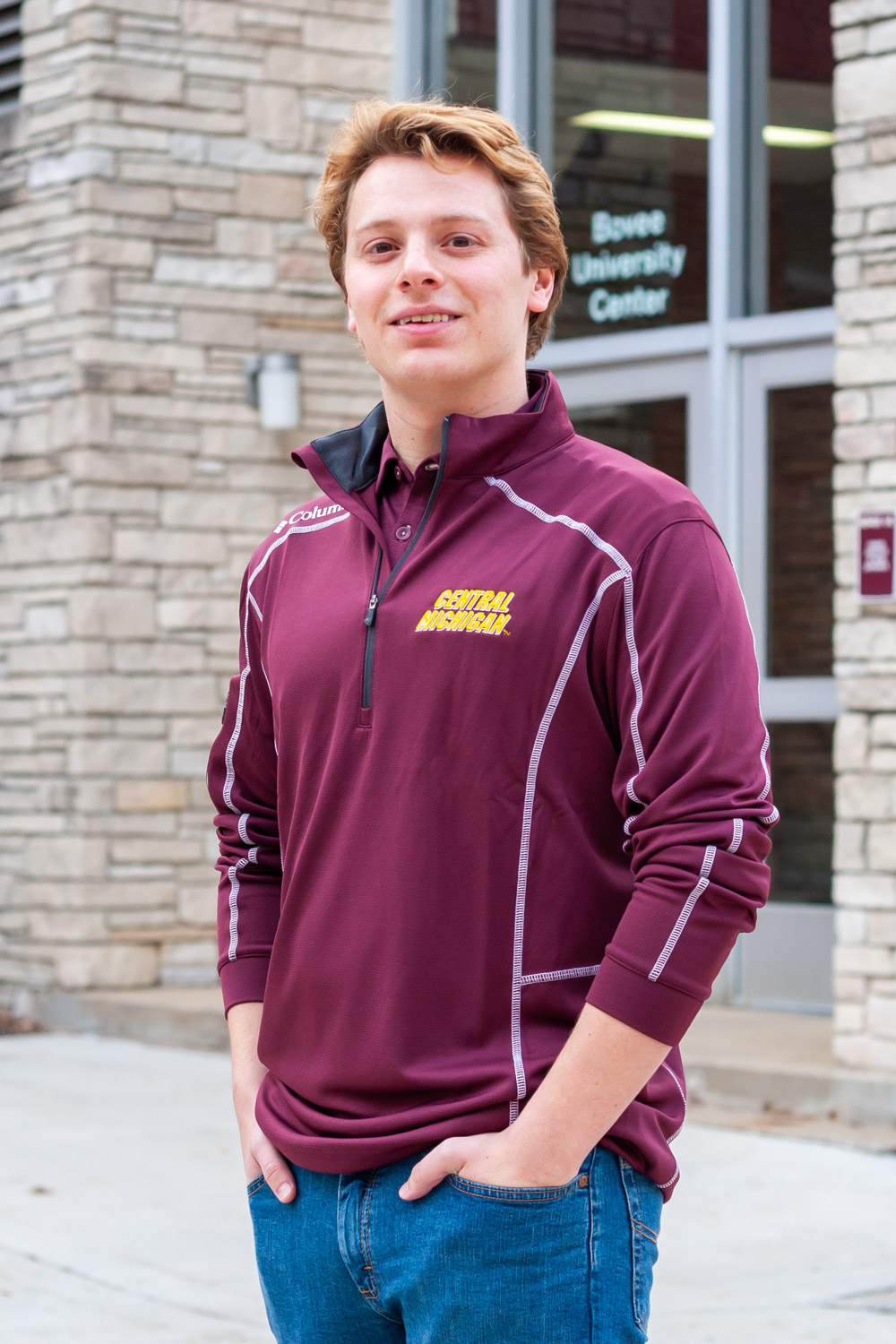 Central Michigan Maroon Shotgun ¼ Zip Pullover<br><small>COLUMBIA</small> (SKU 5046452498)