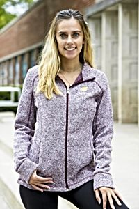 Flying C Chippewas Maroon Women's Full Zip Fleece<br><small>CHAMPION</small>