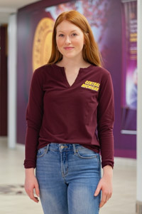 Central Michigan Maroon Avail Women's Double V-Neck<br><small>CUTTER & BUCK</small>