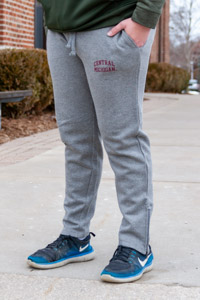 Central Michigan Graphite Gray Pro-Weave Zip-Bottom Sweatpant<br><small>MV SPORT</small>