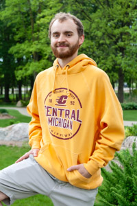 Central Michigan Chippewas Gold Graphic Hoodie<br><small>BLUE 84</small>