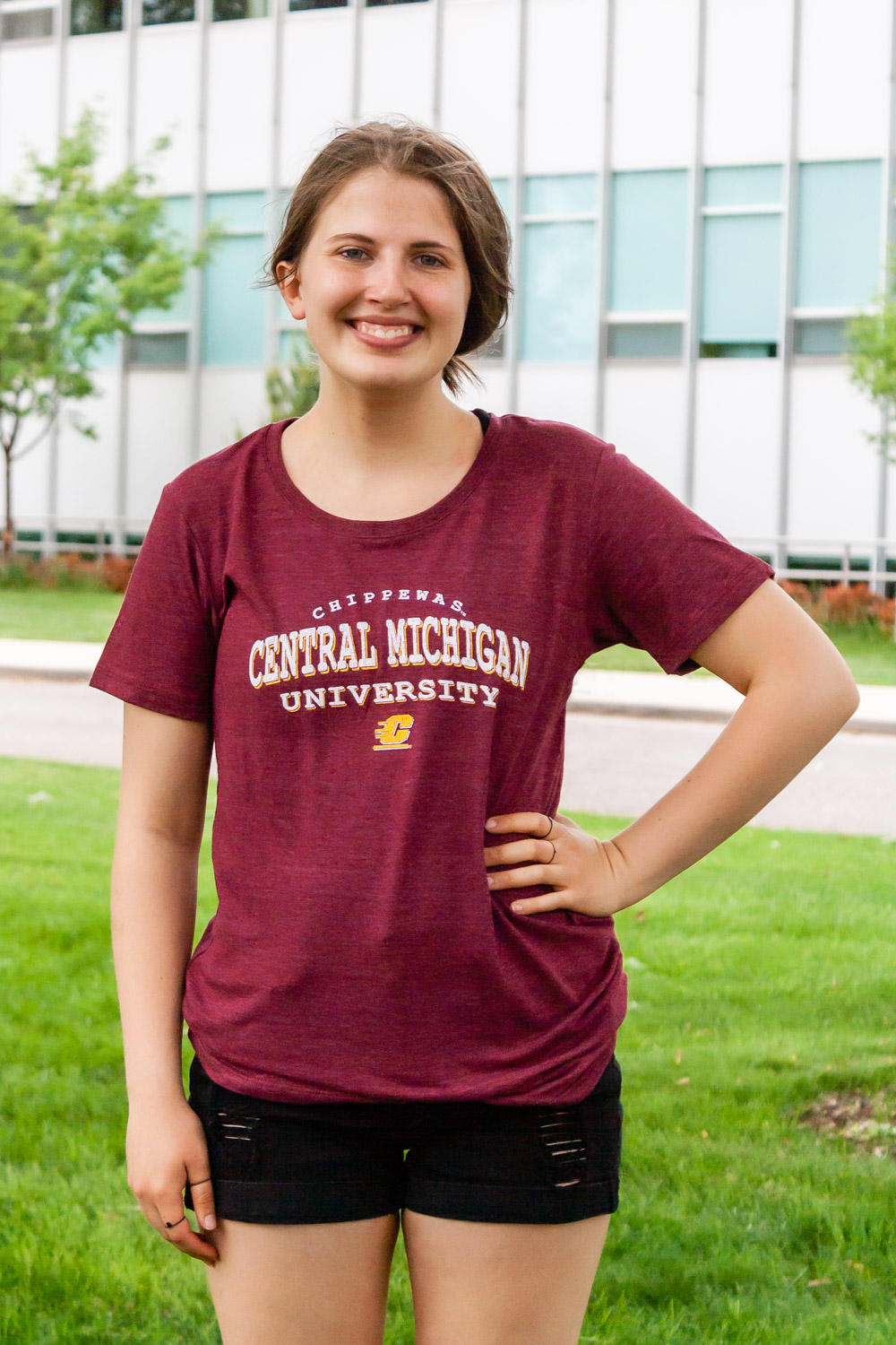 Central Michigan University Maroon Women's T-Shirt<br><small>BLUE 84</small> (SKU 5047072398)