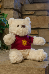 Plush White Bear Wearing a Central Seal T-Shirt<br><small>CHELSEA TEDDY BEAR CO.</small>