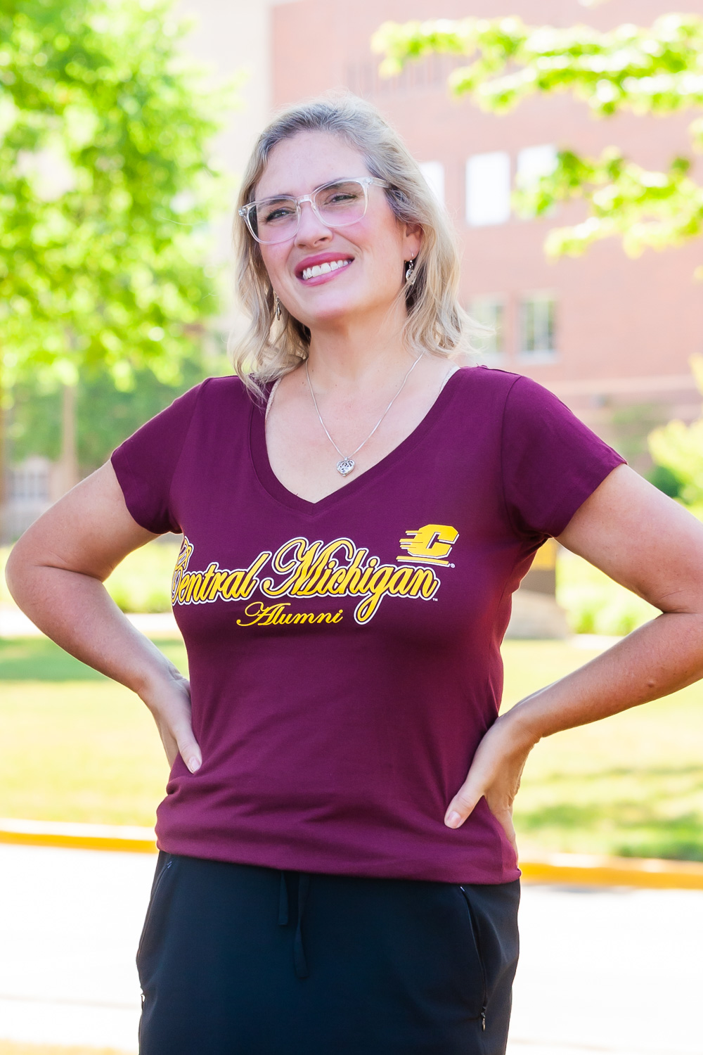 Central Michigan Alumni Maroon Women's V-Neck T-Shirt<br><small></small> (SKU 5047504998)