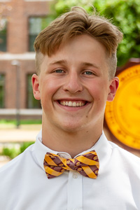 Flying C Maroon & Gold Check Bow Tie<br><small>EAGLES WINGS</small>