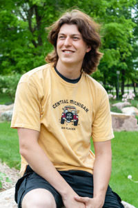 Central Michigan Life is Good Gold Vintage T-Shirt<br><small>BLUE 84</small>