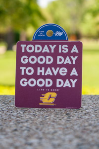 Today is a Good Day Flying C Maroon Sticker<br><small>BLUE 84</small>