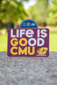 Life is Good Go CMU Flying C Maroon Sticker<br><small>BLUE 84</small>