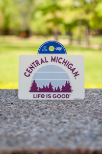 Central Michigan Life is Good Off-White Sticker<br><small>BLUE 84</small>