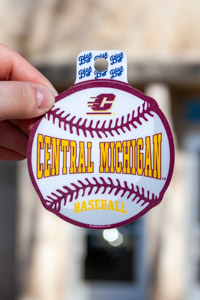 Central Michigan Baseball Flying C Maroon & Gold Sticker<br><small>BLUE 84</small>