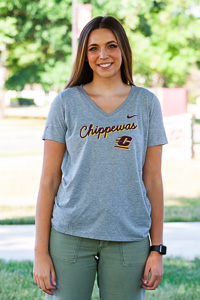 Chippewas Flying C Dark Heather Women's V-Neck<br><small>NIKE</small>