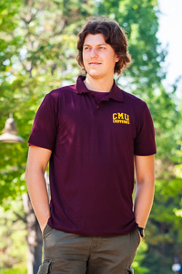 CMU Chippewas Maroon Tech Polo<br><small>MV SPORT</small>