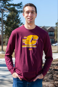 Flying C Fire Up Chips! Maroon Long Sleeve T-Shirt<br><small>UNDER ARMOUR</small>