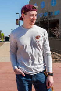 Flying C Central Michigan Silver Long Sleeve T-Shirt<br><small>UNDER ARMOUR</small>