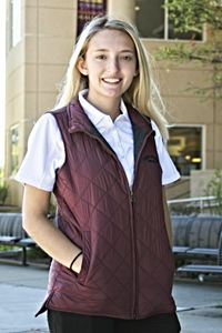 Weatherproof Vintage Maroon Women's Quilted Vest<br><small>MV SPORT</small>